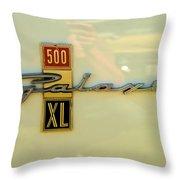 1963 Ford Galaxie Throw Pillow