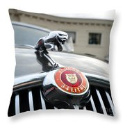 1963 Jaguar Emblem Throw Pillow