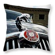 1963 Jaguar Mkii Fantasy Car Throw Pillow