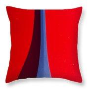 1963 Red Porsche Hood Emblem Throw Pillow