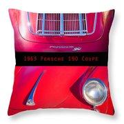 1963 Red Porsche S90 Coupe Poster S Throw Pillow