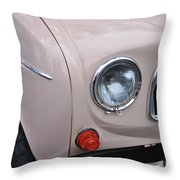 1963 Renault R4 - Headlight And Grill Throw Pillow by Kaye Menner