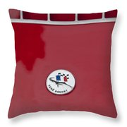 1963 Rene Bonnet Hood Emblem Throw Pillow