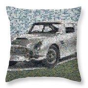 1964 Aston Martin Mosaic Throw Pillow