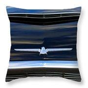 1964 Ford Thunderbird Hood Emblem Throw Pillow