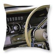 1964 Ford Thunderbird Steering Wheel Throw Pillow
