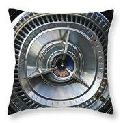 1964 Ford Thunderbird Wheel Rim Throw Pillow