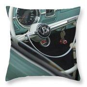 1964 Volkswagen Vw Steering Wheel 2 Throw Pillow