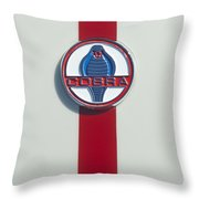 1965 427 Sc Cobra Reproduction Emblem Throw Pillow