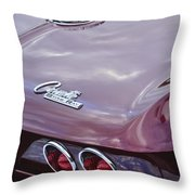 1965 Chevrolet Corvette Tail Light Throw Pillow