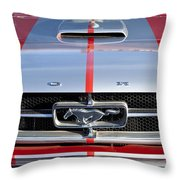 1965 Ford Mustang Front End Throw Pillow