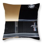 1965 Ford Mustang Grille Emblem 3 Throw Pillow