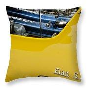 1965 Lotus Elan S2 Engine Throw Pillow