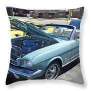 1965 Mustang Convertible Throw Pillow