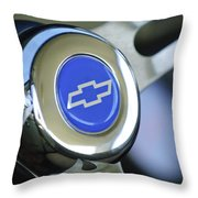 1966 Chevrolet Nova Steering Wheel Emblem Throw Pillow