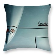 1966 Corvette Sting Ray Hood Insignia Throw Pillow