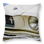 1966 Ford Shelby Gt 350 Grille Emblem Throw Pillow