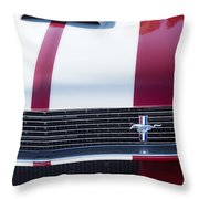 1966 Red Ford Mustang Shelby Gt350 Front Throw Pillow