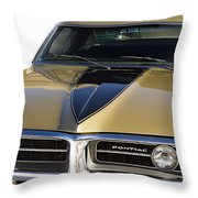1967 Bronze Pontiac Firebird  Throw Pillow