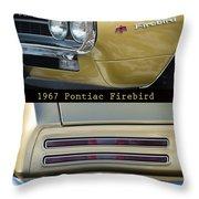 1967 Bronze Pontiac Firebird  Poster S Throw Pillow