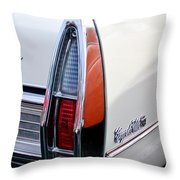 1967 Cadillac Coupe Deville Taillight Throw Pillow