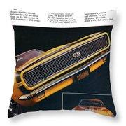 1967 Camaro Ss Throw Pillow