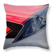 1967 Chevrolet Corvette 427 Hood Emblem 5 Throw Pillow