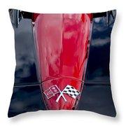 1967 Chevrolet Corvette Hood Emblem 5 Throw Pillow