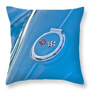 1967 Chevrolet Corvette Rear Emblem Throw Pillow