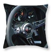 1967 Chevrolet Corvette Steering Wheel Throw Pillow