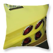 1967 Chevrolet Corvette Taillight Throw Pillow