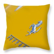 1967 Ferrari 275 Gtb4 Emblem 3 Throw Pillow
