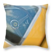 1967 Ferrari 275 Gtb4 Steering Wheel Throw Pillow