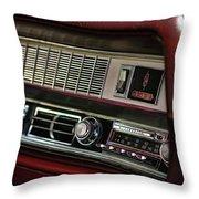 1967 Oldsmobile Cutlass 4-4-2 Dashboard Throw Pillow