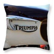 1967 Triumph Bonneville Gas Tank 1 Throw Pillow