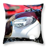 1967 Triumph Gas Tank 3 Throw Pillow