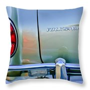 1967 Volkswagen Vw Karmann Ghia Taillight Emblem Throw Pillow