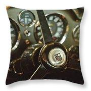 1968 Aston Martin Db6 Steering Wheel Emblem Throw Pillow