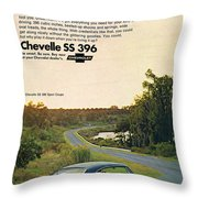 1968 Chevrolet Chevelle Ss 396 - It'd Be A Big Mover On Looks Alone. Throw Pillow