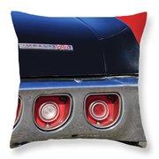 1968 Chevrolet Impala Ss Taillight Emblem Throw Pillow