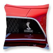 1968 Ford Mustang 427 Ci Fastback Grille Emblem Throw Pillow