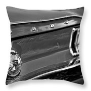 1968 Ford Mustang Gt B/w Throw Pillow