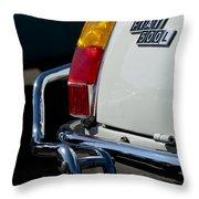 1969 Fiat 500 Taillight Emblem Throw Pillow
