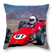 1969 Lotus 61 Formula Ford Throw Pillow