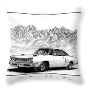 1969 Plymouth Super Bee Throw Pillow by Jack Pumphrey