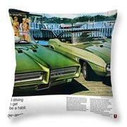 1969 Pontiac Gto And Firebird Throw Pillow