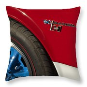 1969 Sc Rambler Wheel Emblem Throw Pillow