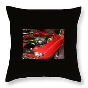 1969 Z-28 Crossram With 9737 Copo Option Throw Pillow