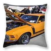 1970 Boss Mustang Throw Pillow