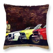 1970 Chevrolet Lineup - This Is What Our Competition Is Going To Have To Live With. Throw Pillow